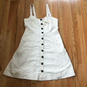 Madewell NWT button front white dress
